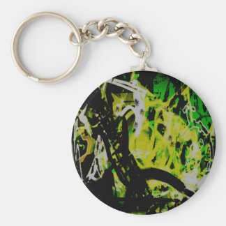 COOL GRAFFITTI EIGHT BASIC ROUND BUTTON KEY RING