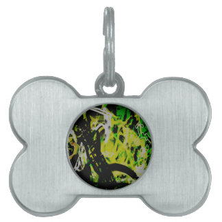 COOL GRAFFITTI EIGHT PET ID TAG