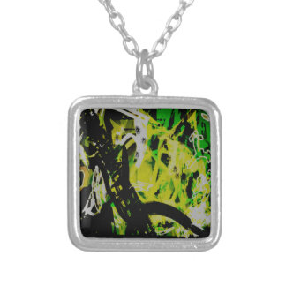 COOL GRAFFITTI EIGHT SILVER PLATED NECKLACE