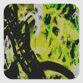 COOL GRAFFITTI EIGHT SQUARE STICKER