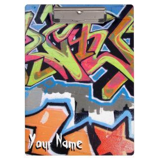 Cool Grafiti Hop Hop Custom Name Clipboard