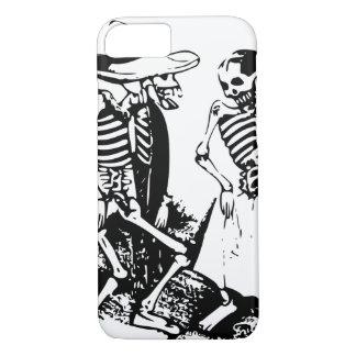 Cool Gran Fandago Retro Black White Skeleton Dance iPhone 7 Case