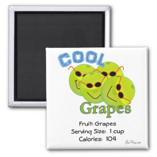 Cool Grapes Square Magnet