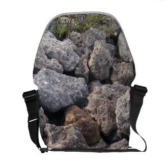 Cool Gray Rocks Pattern Design Messenger Bag