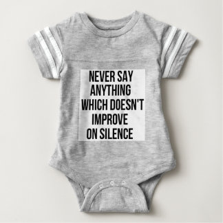 Cool great simple wisdom philosophy tao sentence baby bodysuit