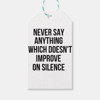 Cool great simple wisdom philosophy tao sentence gift tags