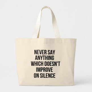 Cool great simple wisdom philosophy tao sentence large tote bag