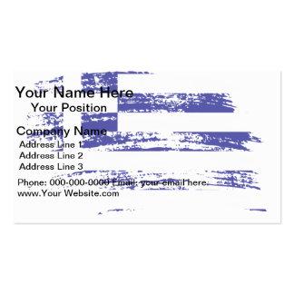 Cool Greek flag design Business Card