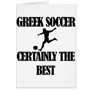 cool Greek  soccer designs Card