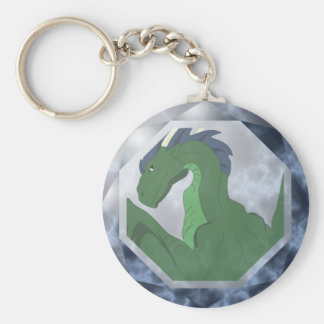 Cool Green And Blue Dragon Gem Keychains
