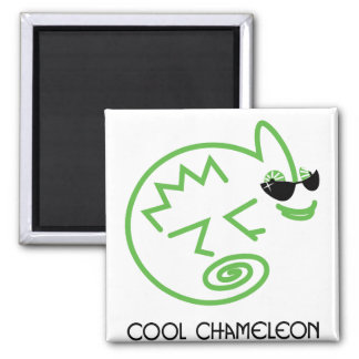 Cool Green Chameleon Magnet