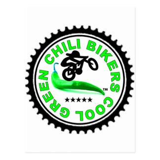 Cool Green Chili Bikers Postcard