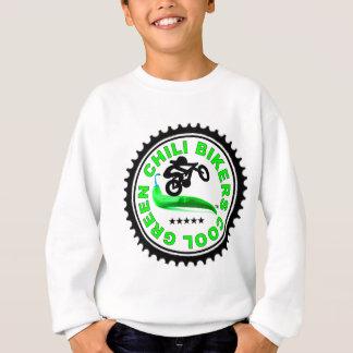 Cool Green Chili Bikers Sweatshirt
