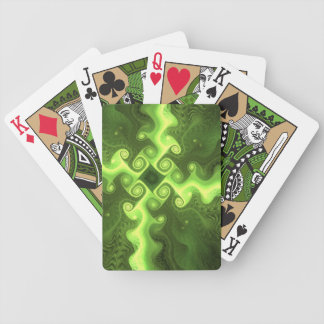 Cool Green Fractal Art Bicycle Playing Cards