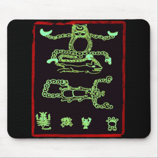 Cool Green Mayan Design Mouse Pad