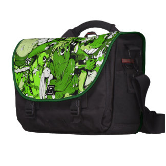 Cool Green Monsters and Zombies Bags For Laptop
