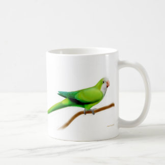 Cool Green Quaker Parrot Mug