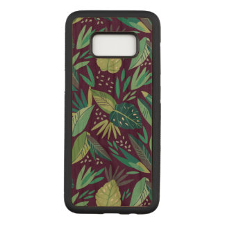 Cool Green Tropical Leafs Pattern G8 Carved Samsung Galaxy S8 Case