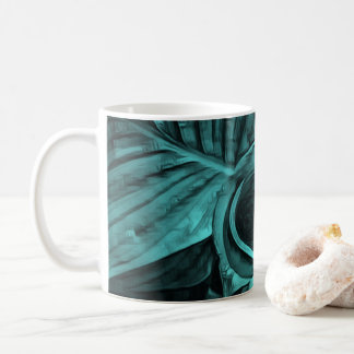 Cool green tropical leaves coffee mug