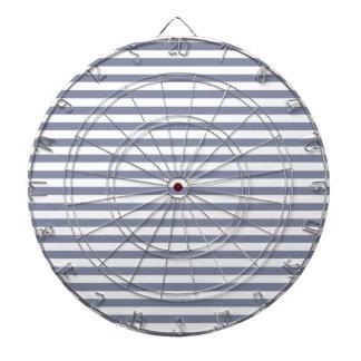 Cool Grey Horizontal Stripes; Striped Dartboard