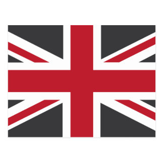 Cool Grey Red Union Jack British(UK) Flag Post Cards