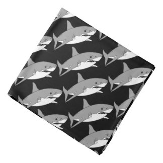 cool grey shark bandana
