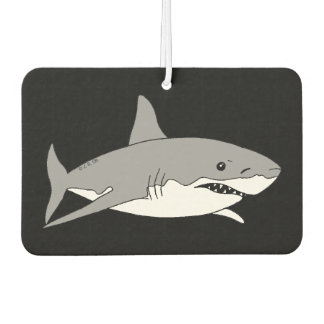 cool grey shark car air freshener