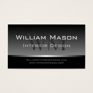 Cool Grey & Silver Stripe Professional Bus Card