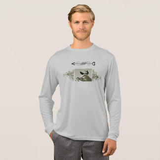 Cool Grey Surf Wave Tee for men