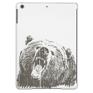 Cool Grizzly Bear Roar Hand Drawn Case For iPad Air