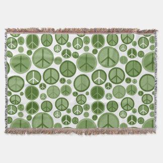 Cool Groovy Sage Green Peace Symbols