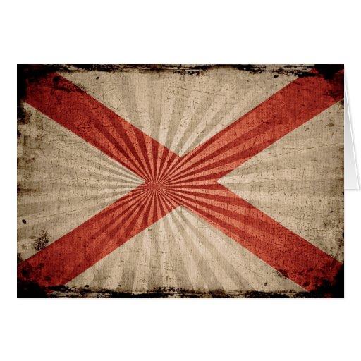 Cool Grunge Alabama Flag Greeting Cards