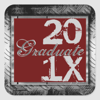 Cool Grunge Any Color & Year Graduation Stickers