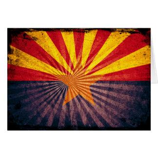 Cool Grunge Arizona Flag Note Card