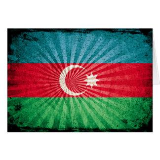 Cool Grunge Azerbaijan Flag Note Card