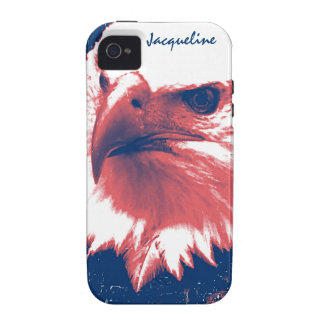 Cool Grunge Bald Eagle iPhone 4 Cases