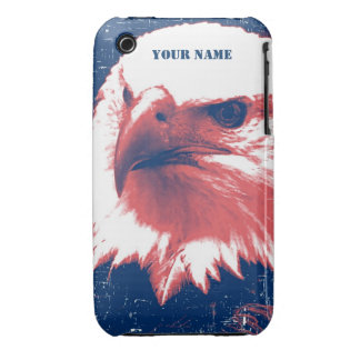 Cool Grunge Bald Eagle iPhone 3 Case-Mate Case