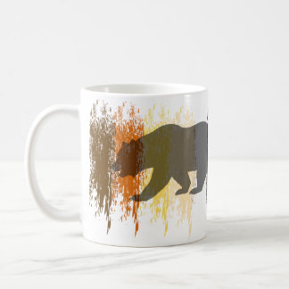 Cool Grunge Bear Shadow Gay Bear Pride Mugs