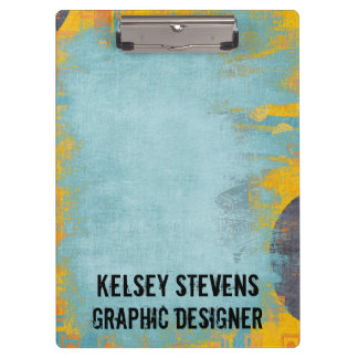 Cool Grunge Blue Wash Clipboard