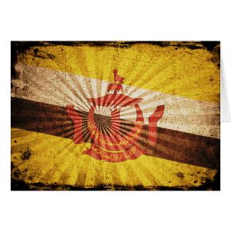 Cool Grunge Brunei Flag; Note Card