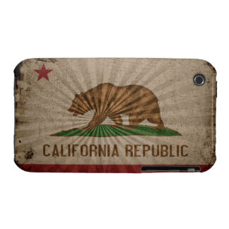 Cool Grunge California Flag iPhone 3 Covers