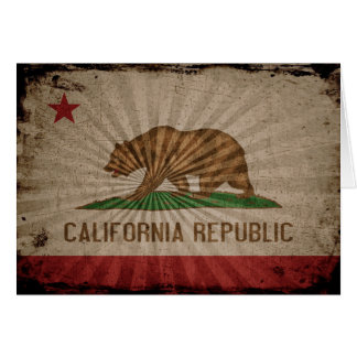 Cool Grunge California Flag Note Card