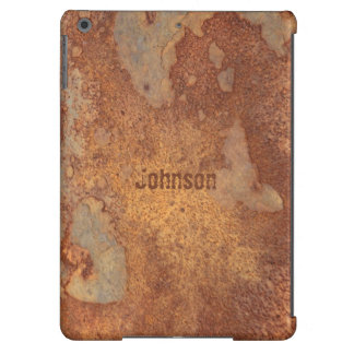 Cool Grunge Corroded Metal Look with Custom Name iPad Air Case