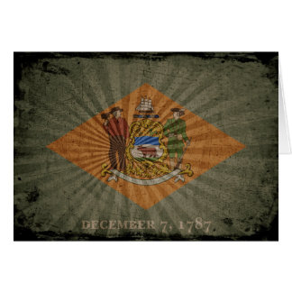 Cool Grunge Delaware Flag Greeting Card