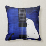Cool Grunge Electric Guitar Pillow