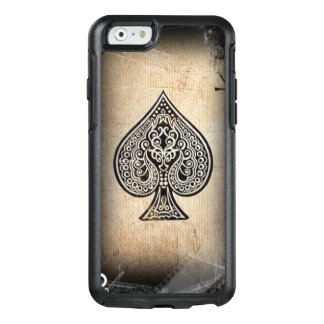 Cool Grunge Hip Retro Artistic Poker Ace Of Spades OtterBox iPhone 6/6s Case