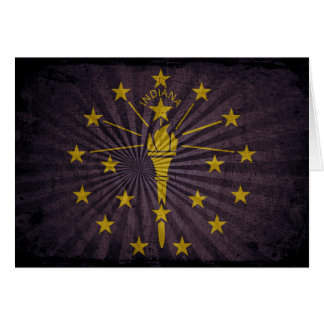 Cool Grunge Indiana Flag Note Card