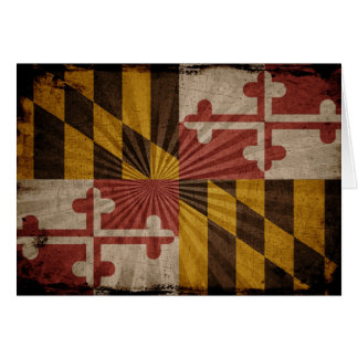 Cool Grunge Maryland Flag Note Card