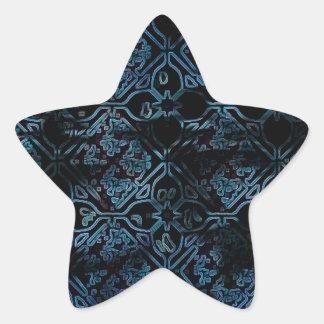 Cool Grunge Medieval Print Star Sticker