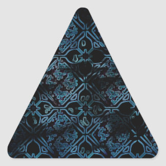 Cool Grunge Medieval Print Triangle Sticker